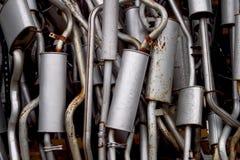 выхлопные трубы автомобиля Стоковое фото RF