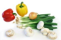 выходите некоторые овощи вышед на рынок на рынок Стоковое фото RF