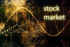 выходите шток вышед на рынок на рынок иллюстрация вектора