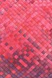 выходит красный цвет ладони циновки сплетено Стоковое Фото