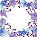 Выходит смородина Листва ботанического сада завода лист флористическая Квадрат орнамента границы рамки Стоковые Изображения RF