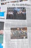 ВЫХОДНЫЕ НЬЮ-ЙОРК ТАЙМС СТОИЛИ $6 00 США DOLARS Стоковое фото RF