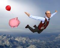 Выход на пенсию, пенсионер, деньги, сбережения, пенсия Стоковое фото RF