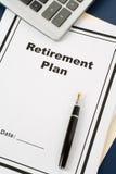 выход на пенсию плана стоковые фото