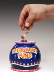 выход на пенсию фондом Стоковые Изображения