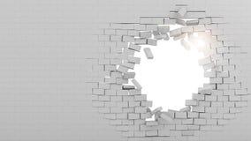 Выхоженная сквозь отверстие стена Стоковое фото RF