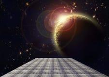 Выход в открытый космос Стоковая Фотография