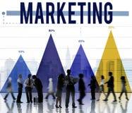 Выходить на рынок рекламирует концепцию рекламы дела анализа стоковая фотография rf