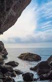 Выходить солнечный свет облаков Стоковое Изображение RF