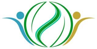 Выходит логотип Стоковое Изображение