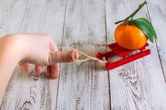 выходит tangerine Стоковое Фото