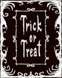 выходка обслуживания карточка halloween иллюстрация вектора