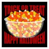 выходка обслуживания halloween счастливый мозоль шара и конфеты Помадки дальше Стоковая Фотография RF