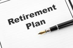 выход на пенсию плана Стоковые Изображения RF