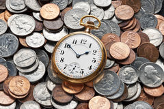 Выход на пенсию управления денежными средствами времени Стоковые Изображения