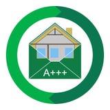 Выход по энергии Weatherization конверта здания зеленого цвета Eco дома Стоковые Изображения