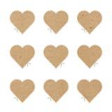 Выходы отрезка сердец ремесла бумажные Стоковая Фотография RF