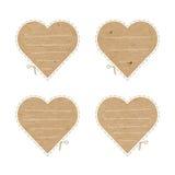 Выходы отрезка сердец ремесла бумажные Стоковые Фото