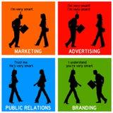 Выходя на рынок клеймя реклама Стоковые Изображения