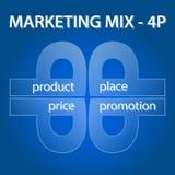 Выходя на рынок шаблон смешивания infographic Стоковые Фотографии RF