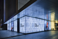 Выход Dior на ноче, Пекине, Китае стоковое изображение