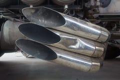 Выхлопная труба большого конца тележки вверх Стоковое Фото