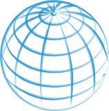вычерченная изолированная рука глобуса Стоковая Фотография