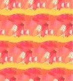 вычерченная картина руки безшовная Абстрактная предпосылка с ходами щетки Теплые цвета вручают вычерченную текстуру иллюстрация штока