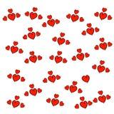 вычерченная картина сердец руки безшовная Абстрактная повторенная предпосылка эскиза doodle бесплатная иллюстрация