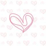 Вычерченная предпосылка сердца Стоковые Изображения RF