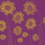вычерченная рука цветков Стоковое Изображение