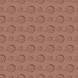вычерченная флористическая картина руки безшовная Стоковые Изображения RF