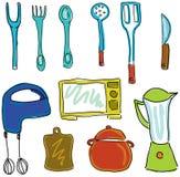 Вычерченное вещество кухни Стоковая Фотография