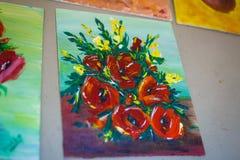 Вычерченное изображение цветков Стоковое Изображение RF