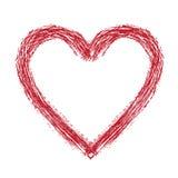 вычерченное сердце Стоковое Фото