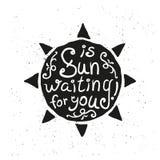 вычерченное солнце руки иллюстрация штока