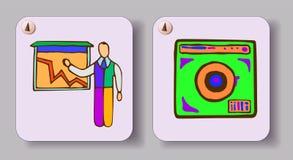 вычерченные иконы руки иллюстрация вектора