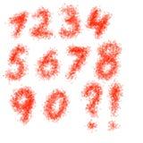 вычерченные номера руки Стоковое Фото