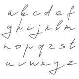 вычерченные письма руки Стоковое Фото