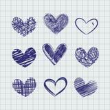 вычерченные сердца руки Стоковая Фотография RF