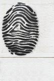 Вычерченный отпечаток пальцев на белой стене 1 Стоковая Фотография RF
