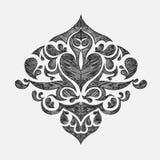 вычерченный флористический орнамент руки Стоковая Фотография RF