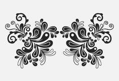 вычерченный флористический сбор винограда орнамента руки Стоковые Фото