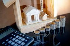 Вычисление процентной ставки ссудного процента банка стоковое изображение