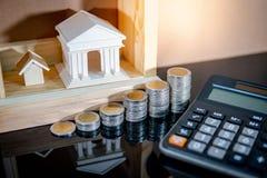 Вычисление процентной ставки ссудного процента банка стоковые изображения