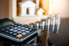 Вычисление процентной ставки ссудного процента банка стоковое фото
