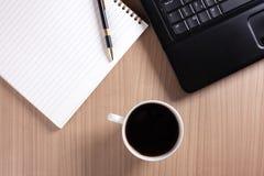 вычислительное бюро кофе пролома Стоковое фото RF