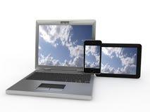 вычислительные приборы облака стоковые изображения