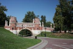 вычисляемое мостом tsaritsyno музея Стоковые Изображения RF