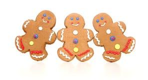 вычисляет белизну gingerbread счастливую ся стоковые фотографии rf